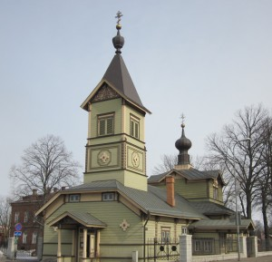 Tallinn's historic Orthodox Cathedral of Sts Symeon and Anna.